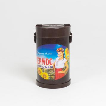 Термос порционный 3-х секционный «РОССИЯ», чаша нержавейка 0,6л